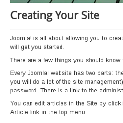 joomla article header after